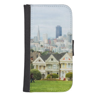 Painted Ladies, Victorian houses and skyline Samsung S4 Wallet Case