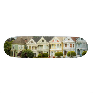 Painted Ladies, Victorian houses and skyline Skateboards