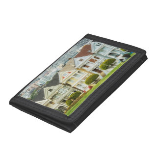 Painted Ladies, Victorian houses and skyline Tri-fold Wallet