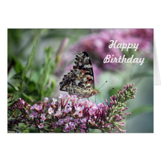 Painted Lady Birthday Card