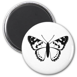 Painted Lady Butterfly 6 Cm Round Magnet
