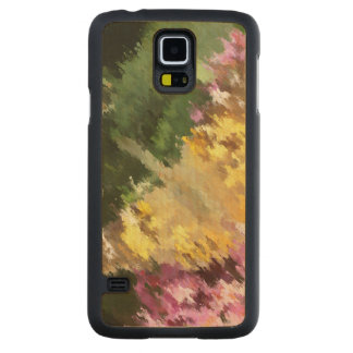 Painted Lady Butterfly Acrylic Effect Carved Maple Galaxy S5 Case