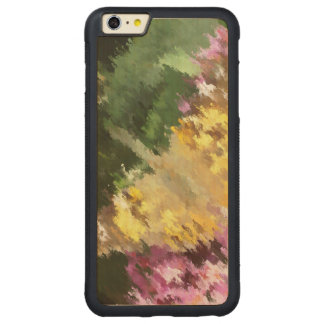 Painted Lady Butterfly Acrylic Effect Carved Maple iPhone 6 Plus Bumper Case