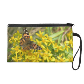 Painted Lady Butterfly Wristlet Purse