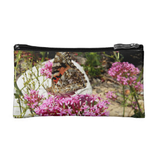 Painted Lady Butterfly Cosmetic Bags