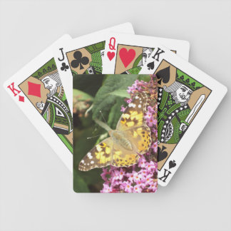 Painted Lady Butterfly Bicycle Playing Cards