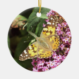 Painted Lady Butterfly Christmas Ornament