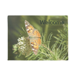 Painted Lady Butterfly Doormat