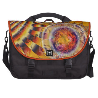 Painted Lady Butterfly Fractal Tapestry Bags For Laptop