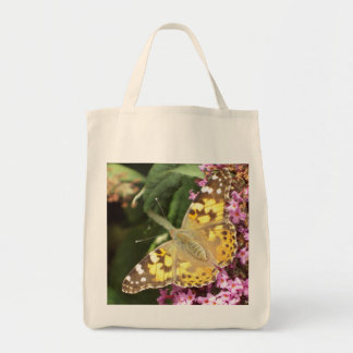 Painted Lady Butterfly Grocery Tote Bag