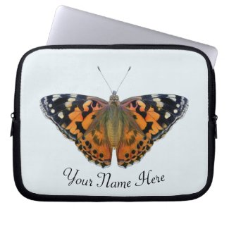 Painted Lady Butterfly Hand painted Artwork Laptop Sleeve
