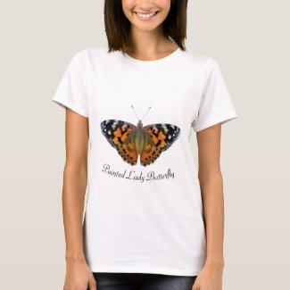 Painted Lady Butterfly Hand painted Artwork T-Shirt