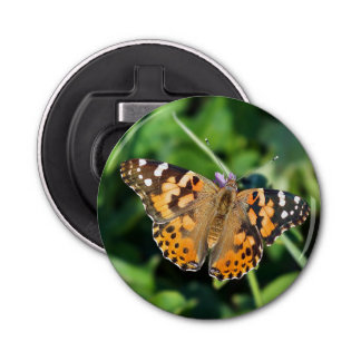 Painted Lady Butterfly Magnet Bottle Opener