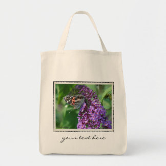 Painted Lady Butterfly on Purple ~ Tote Bag