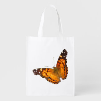 Painted Lady butterfly ~ Poly bag Reusable Grocery Bag