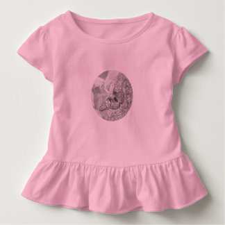Painted Lady Butterfly Sketch Effect Toddler T-Shirt