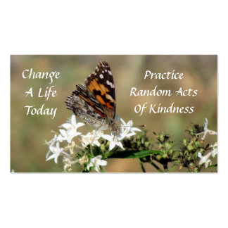 Painted Lady  Random Acts of Kindness Card Pack Of Standard Business Cards