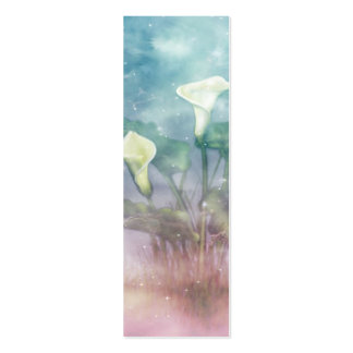 Painted Lilies Bookmark Pack Of Skinny Business Cards