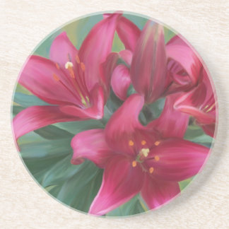 Painted Lilies Coaster