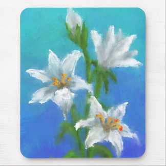Painted Lillies Mouse Pad