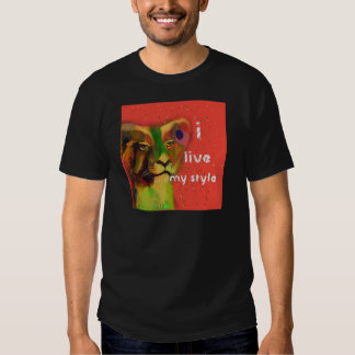 Painted lion with message tshirt