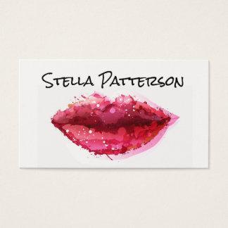 Painted Lips Makeup Artist Business Card