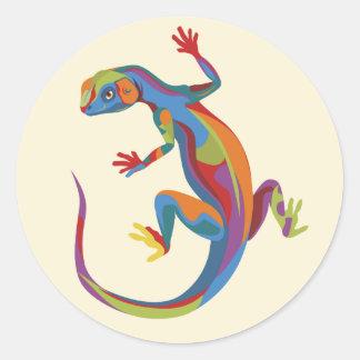 Painted Lizard Sticker