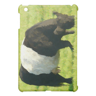 Painted Look Belted Galloway Cow in Field iPad Mini Cover