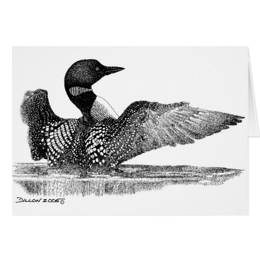 Painted Loon Card