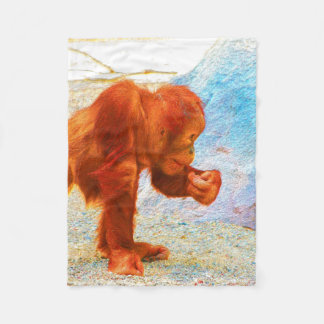 painted lovely orang baby fleece blanket