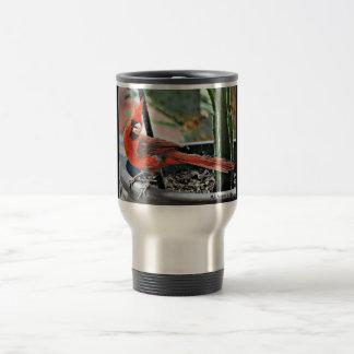 Painted Male Cardinal Travel Commuter Mug