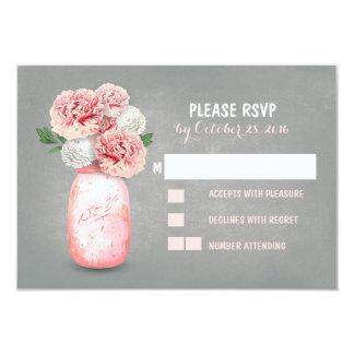 Painted mason jar cute wedding RSVP cards 9 Cm X 13 Cm Invitation Card
