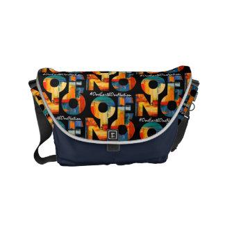 Painted messenger bag