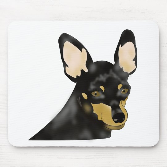 Painted Min Pin Mousepad