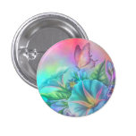 Painted Morning Glories 3 Cm Round Badge