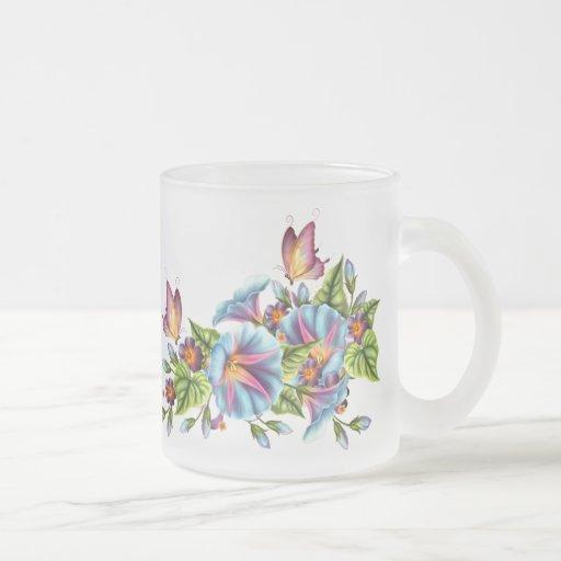 Painted Morning Glories Coffee Mugs