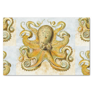 Painted Nautical Octopus Kraken Squid Father's Day Tissue Paper