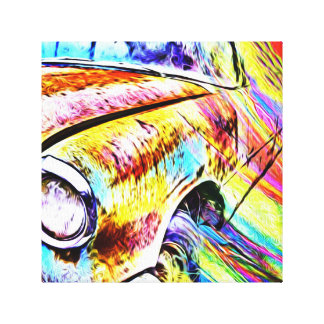 Painted Old Car Canvas Print