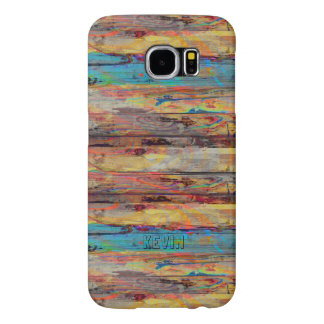 Painted Old Wood Boards Samsung Galaxy S6 Cases