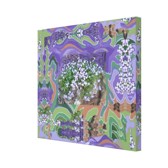 Painted on Flower Photo - larger, thicker Canvas