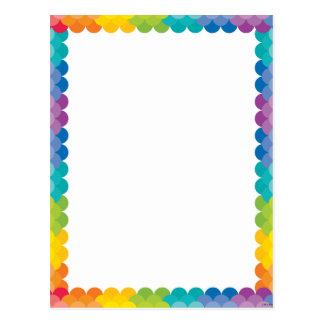 Painted Palette Rainbow Scallops Postcard