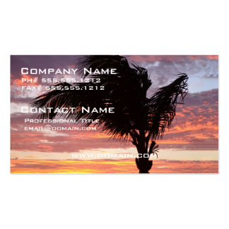 Painted Palm Sunset Business Card Templates