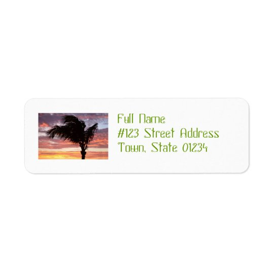 Painted Palm Sunset Return Address Label
