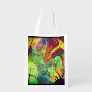 Painted Panes Abstract Reusable Tote Bag
