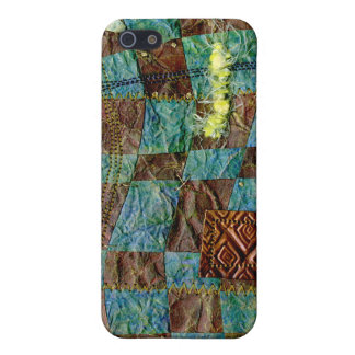 Painted Paper Weaved and Stitched iPhone 5 Case