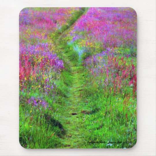 Painted Path to the Woods Mouse Pad