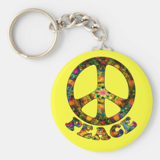 Painted Peace Keychain