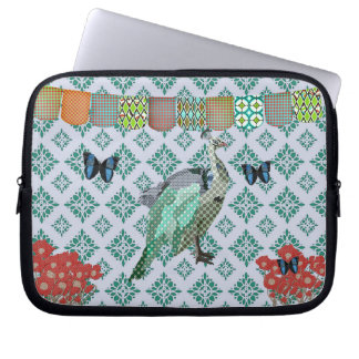Painted Peacock Computer Sleeve