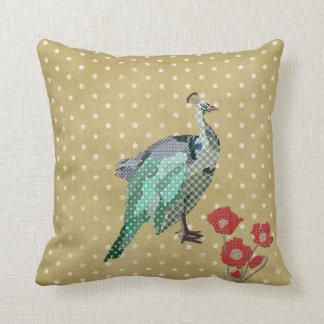 Painted Peacock & Peonies Mojo Pillow