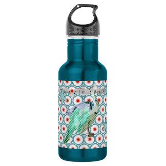 Painted Peacock Turqoise Liberty Bottle 532 Ml Water Bottle